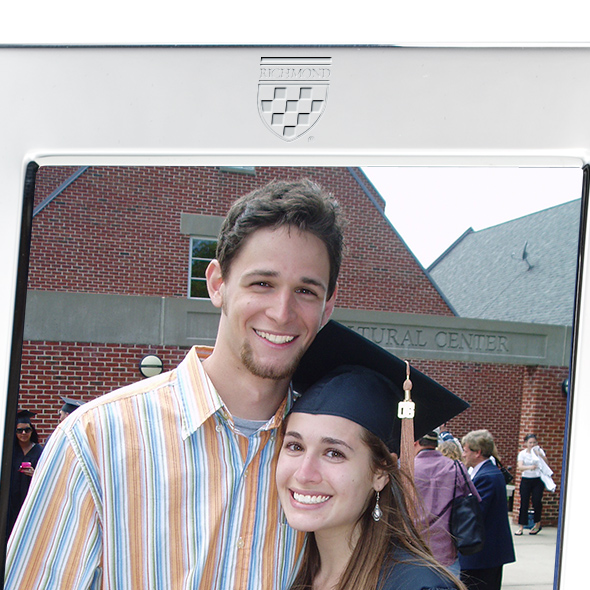University of Richmond Polished Pewter 5x7 Picture Frame - Image 2