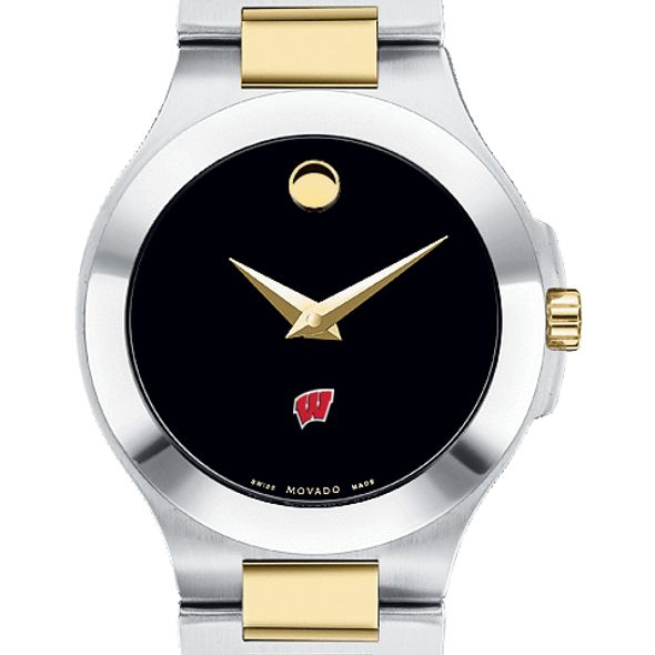 Wisconsin Women's Movado Collection Two-Tone Watch with Black Dial - Image 1