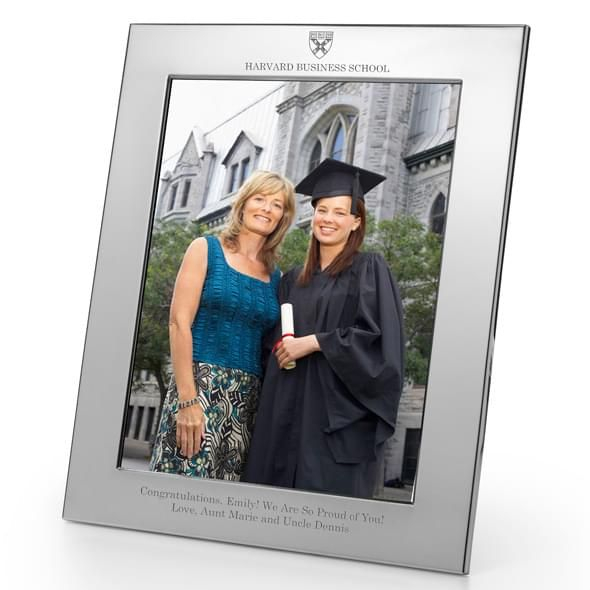 Harvard Business School Polished Pewter 8x10 Picture Frame - Image 2