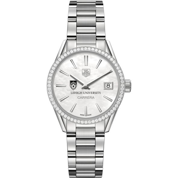 Lehigh University Women's TAG Heuer Steel Carrera with MOP Dial & Diamond Bezel - Image 2