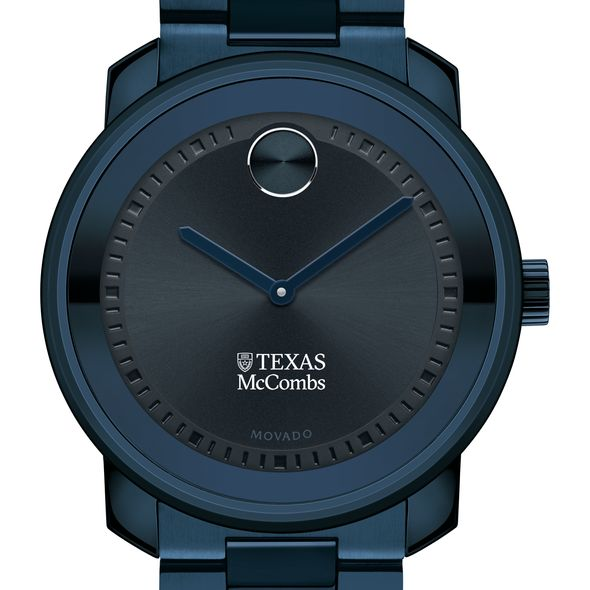 McCombs School of Business Men's Movado BOLD Blue Ion with Bracelet - Image 1
