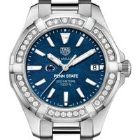 Penn State Women's TAG Heuer 35mm Steel Aquaracer with Blue Dial