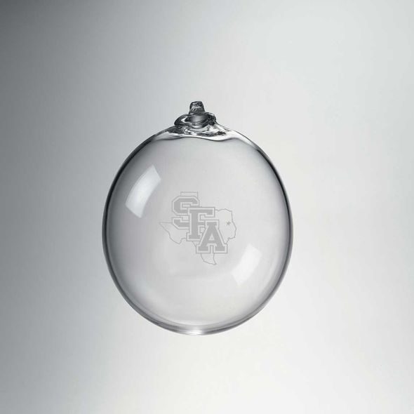 SFASU Glass Ornament by Simon Pearce