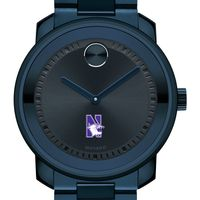 Northwestern University Men's Movado BOLD Blue Ion with Bracelet