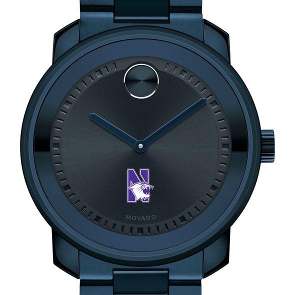Northwestern University Men's Movado BOLD Blue Ion with Bracelet