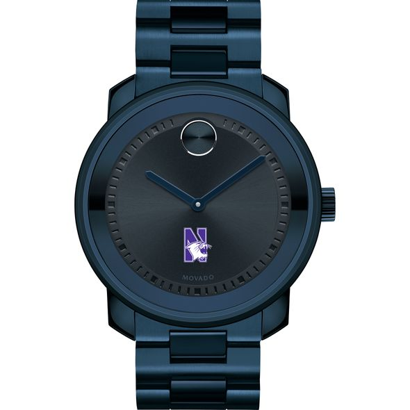 Northwestern University Men's Movado BOLD Blue Ion with Bracelet - Image 2