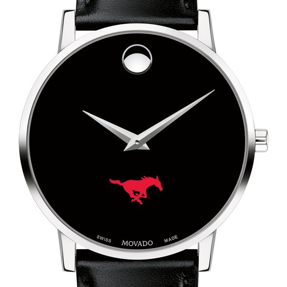 Southern Methodist University Men's Movado Museum with Leather Strap