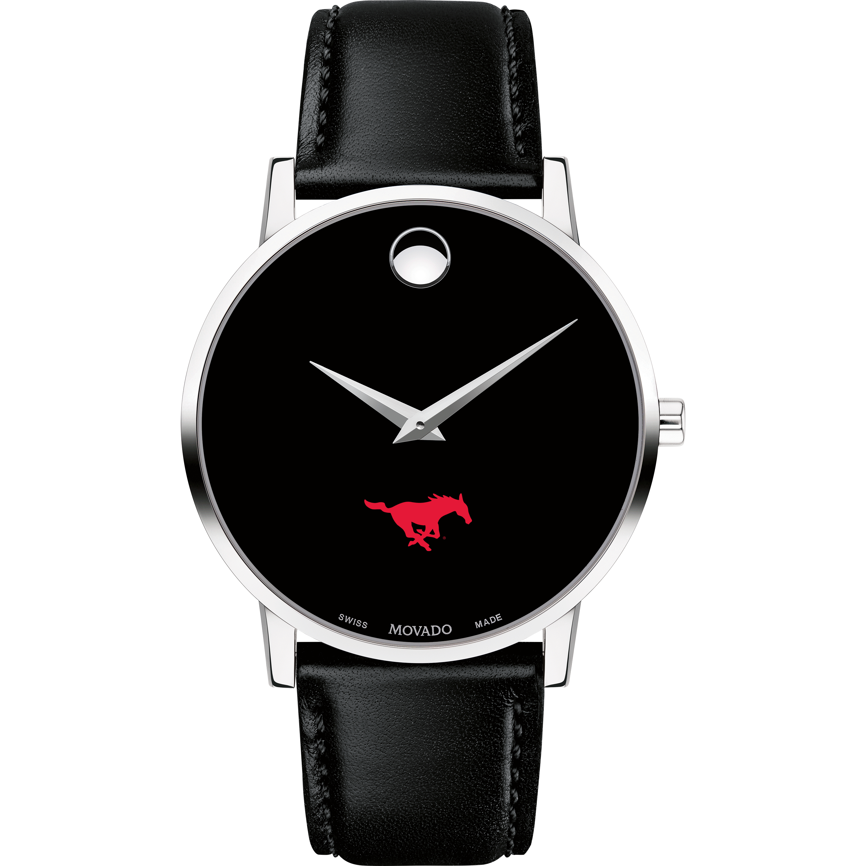 SMU Men's Movado Museum with Leather Strap - Image 2