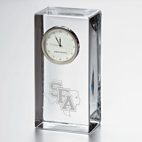 SFASU Tall Glass Desk Clock by Simon Pearce