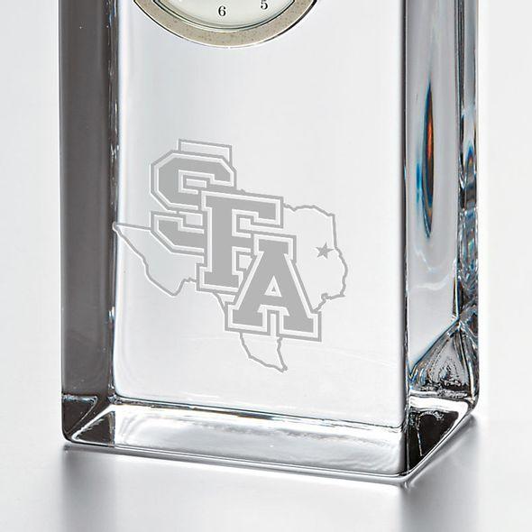 SFASU Tall Glass Desk Clock by Simon Pearce - Image 2