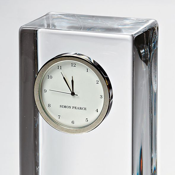 SFASU Tall Glass Desk Clock by Simon Pearce - Image 3