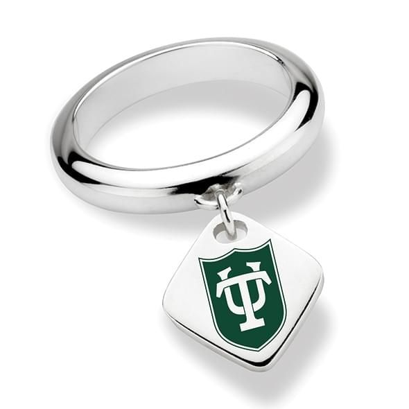 Tulane University Sterling Silver Ring with Sterling Tag