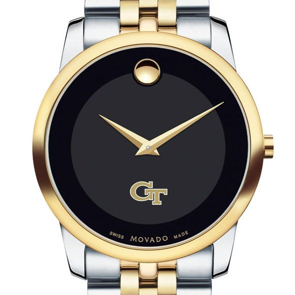 Georgia Tech Men's Movado Two-Tone Museum Classic Bracelet