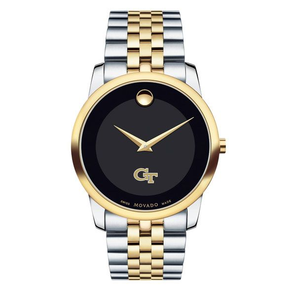 Georgia Tech Men's Movado Two-Tone Museum Classic Bracelet - Image 2