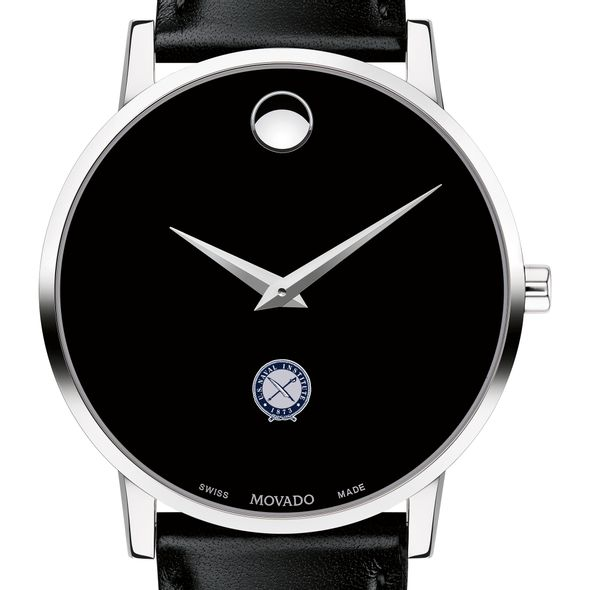U.S. Naval Institute Men's Movado Museum with Leather Strap