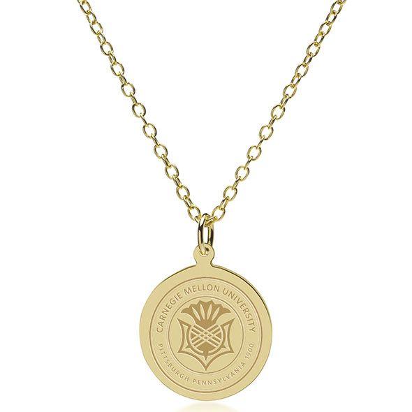 Carnegie Mellon University 14K Gold Pendant & Chain - Image 2