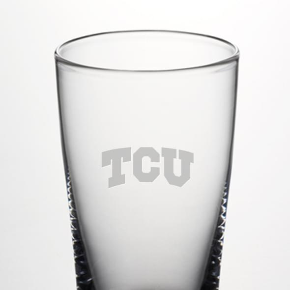 TCU Pint Glass by Simon Pearce - Image 2