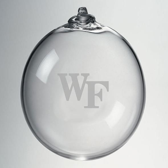Wake Forest Glass Ornament by Simon Pearce - Image 2