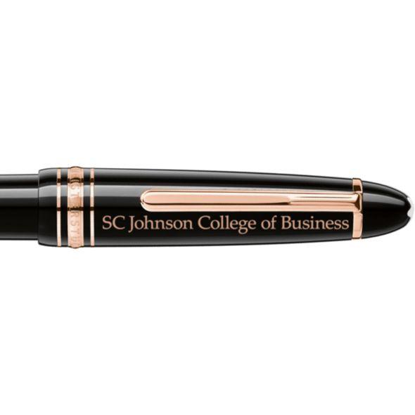 SC Johnson College Montblanc Meisterstück LeGrand Ballpoint Pen in Red Gold - Image 2