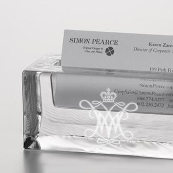 William & Mary Glass Business Cardholder by Simon Pearce - Image 2