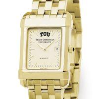 TCU Men's Gold Quad Watch with Bracelet