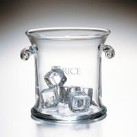 Rice University Glass Ice Bucket by Simon Pearce