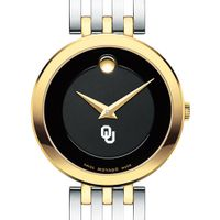 University of Oklahoma Women's Movado Esparanza Two-Tone Museum with Bracelet
