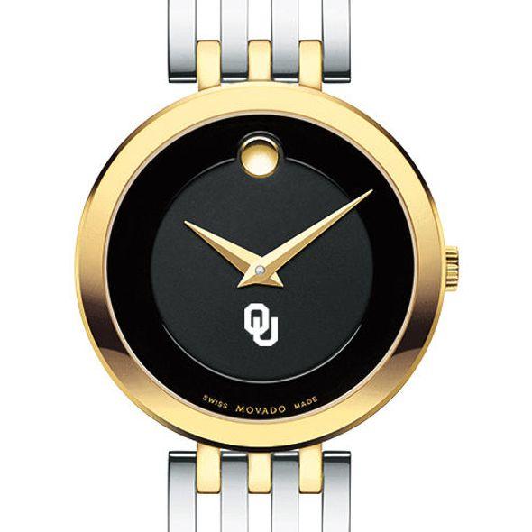 University of Oklahoma Women's Movado Esparanza Two-Tone Museum with Bracelet
