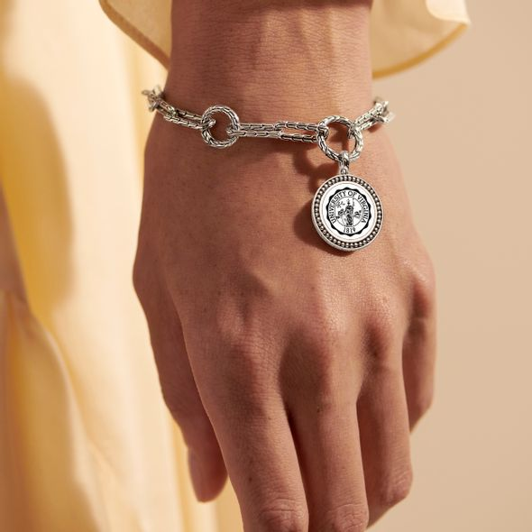 UVA Amulet Bracelet by John Hardy with Long Links and Two Connectors