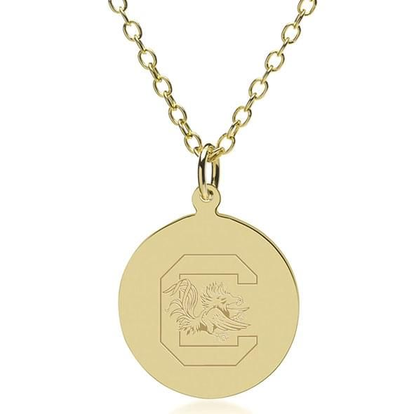 South Carolina 14K Gold Pendant & Chain - Image 1