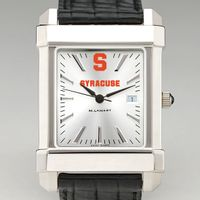Syracuse University Men's Collegiate Watch with Leather Strap