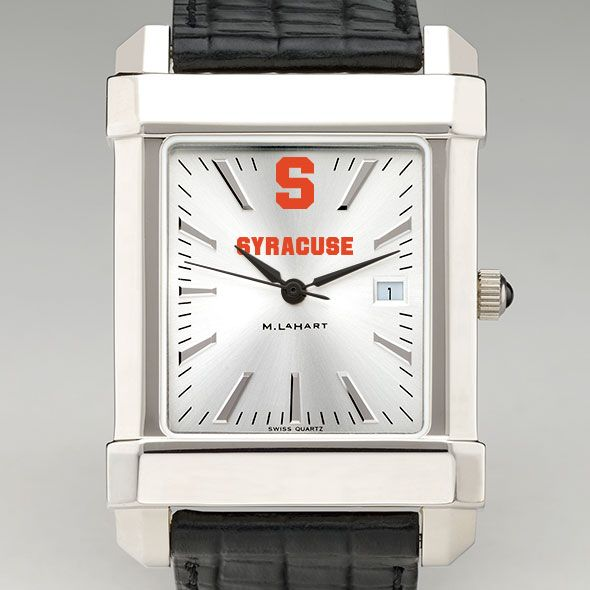 Syracuse University Men's Collegiate Watch with Leather Strap - Image 1