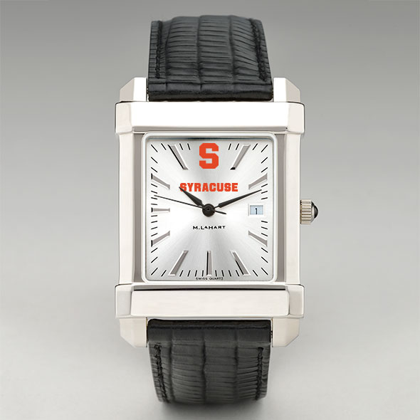 Syracuse University Men's Collegiate Watch with Leather Strap - Image 2