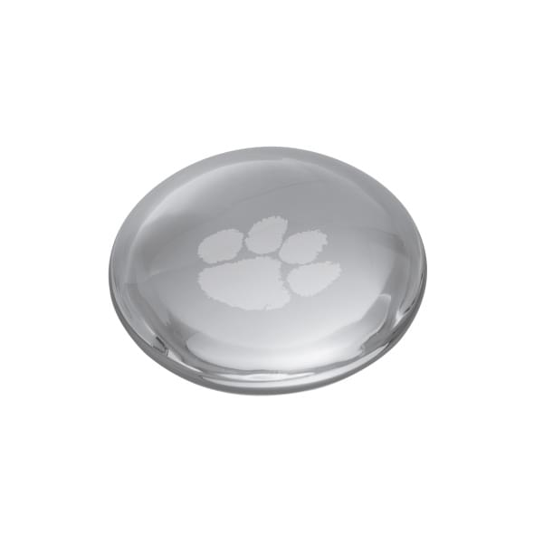 Clemson Glass Dome Paperweight by Simon Pearce - Image 2