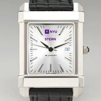 NYU Stern Men's Collegiate Watch with Leather Strap