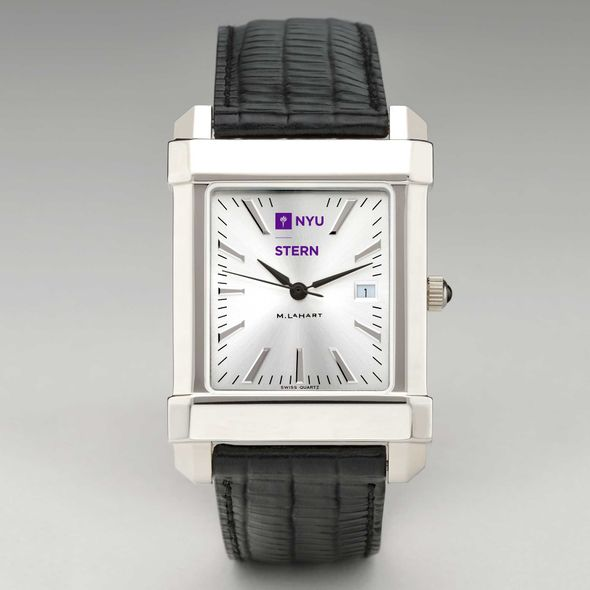 NYU Stern Men's Collegiate Watch with Leather Strap - Image 2