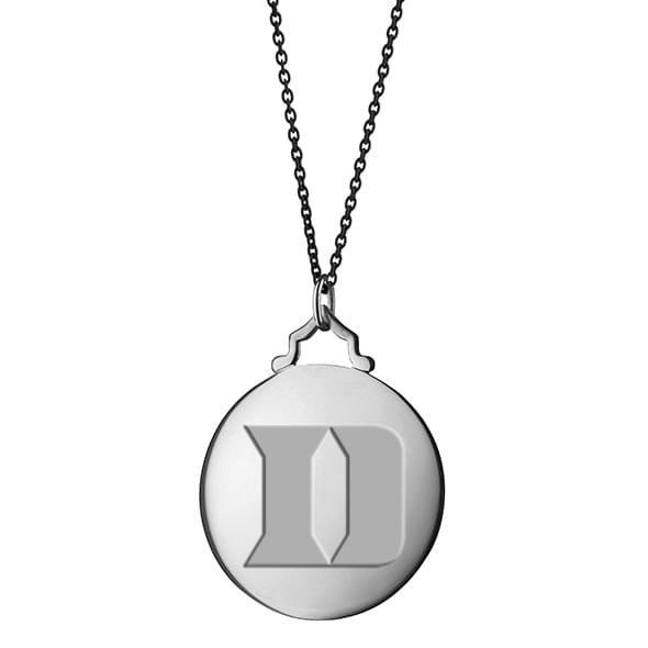 Duke Monica Rich Kosann Round Charm in Silver with Stone - Image 3