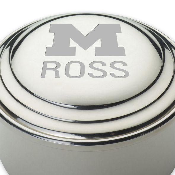 Michigan Ross Pewter Keepsake Box - Image 2