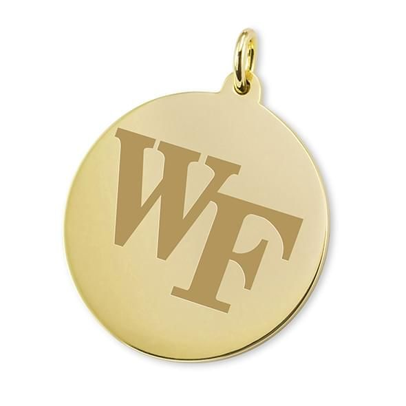 Wake Forest 18K Gold Charm