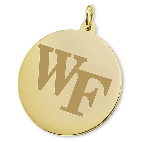 Wake Forest 18K Gold Charm - Image 2