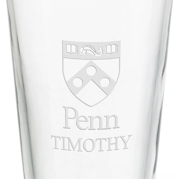 University of Pennsylvania 16 oz Pint Glass - Image 3