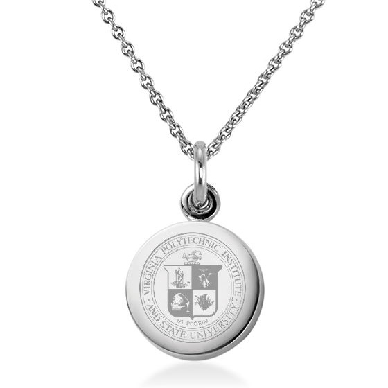 Virginia Tech Necklace with Charm in Sterling Silver