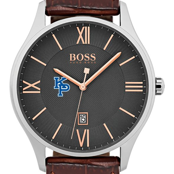 US Merchant Marine Academy Men's BOSS Classic with Leather Strap from M.LaHart