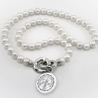 UVA Pearl Necklace with Sterling Silver Charm