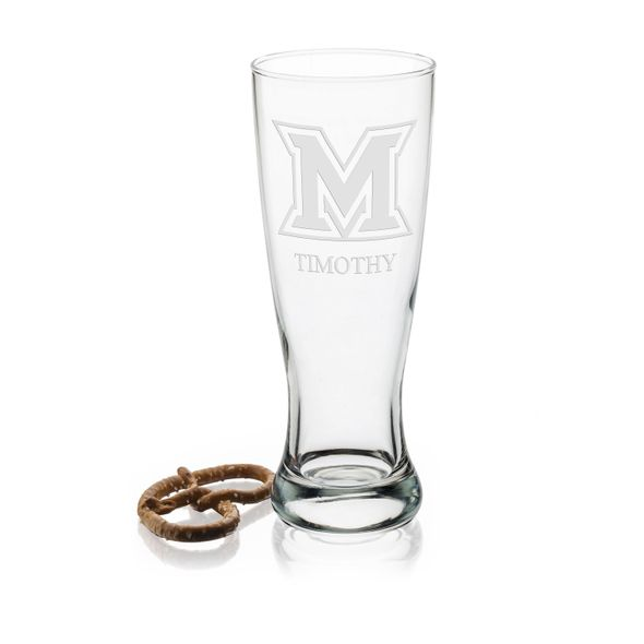 Miami University 20oz Pilsner Glasses - Set of 2 - Image 1