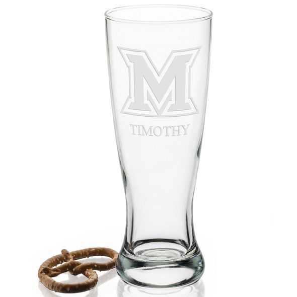 Miami University 20oz Pilsner Glasses - Set of 2 - Image 2