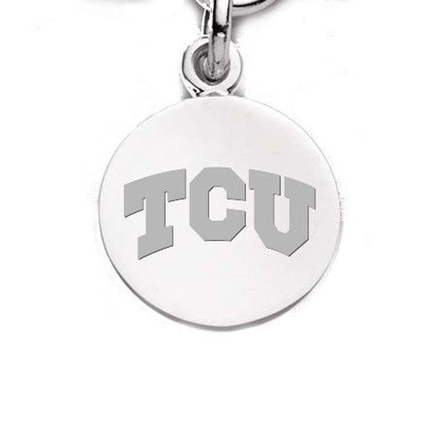 TCU Sterling Silver Charm