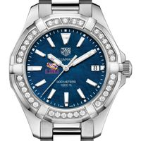 LSU Women's TAG Heuer 35mm Steel Aquaracer with Blue Dial