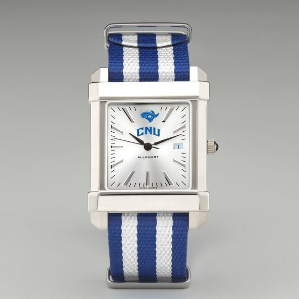 Christopher Newport University Collegiate Watch with NATO Strap for Men - Image 2