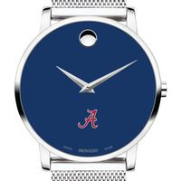 University of Alabama Men's Movado Museum with Blue Dial & Mesh Bracelet